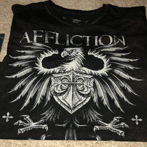 Men Affliction T-shirt Size Large